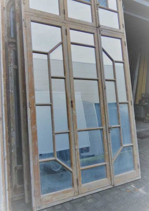Antique window frame with mirrors-2