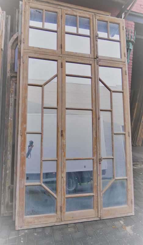 Antique window frame with mirrors-4