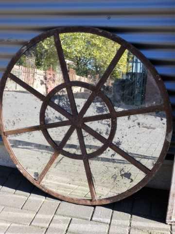 Round barn window mirror-1