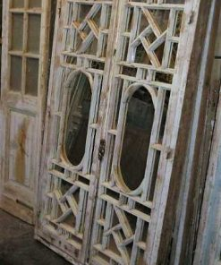 Antique white window pane with mirrors-1