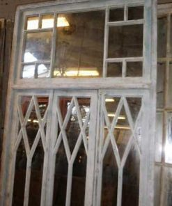 Antique white window front with mirrors-2