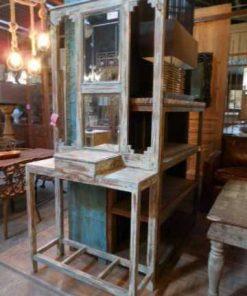 Antieke kaptafel / hal kast met spiegel-1