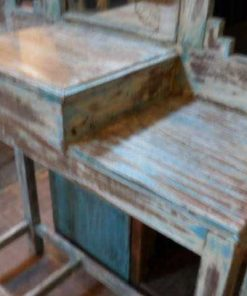 Antique chest of drawers / hall cupboard with mirror-3