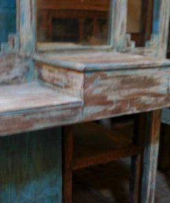 Antieke kaptafel / hal kast met spiegel-4
