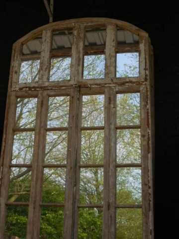 Large antique window with mirrors-3