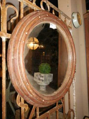 Antique round mirror-3