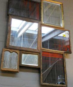 Patchwork of antique mirrors-3