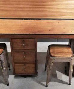 Degelijk vintage kinder bureau-1