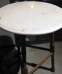 Hoge antieke ronde planten / bar / bijzet tafel-3