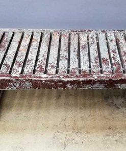 Vintage houten bankje / tafeltje-1