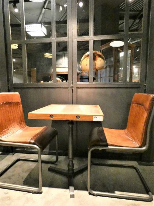 Industrial square bistro table-1