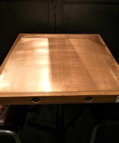 Industrieel vierkanten bistro tafel-2