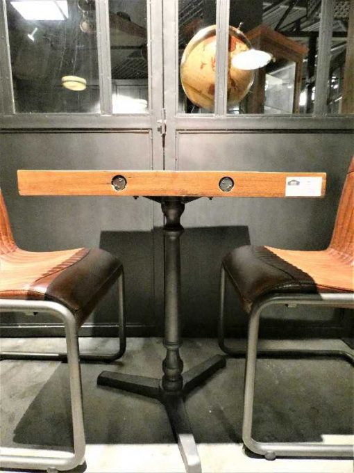 Industrial square bistro table-3