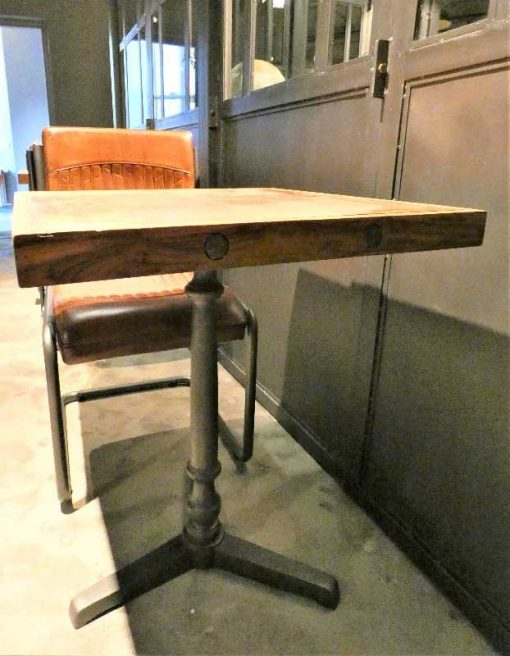 Industrial square bistro table-4