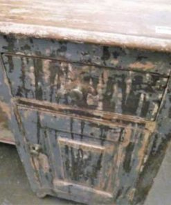 Fraaie vintage bureau met laden en kastjes.-3