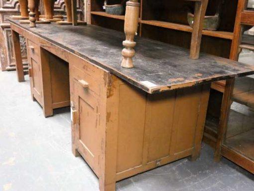 Vintage solid wood workbench / desk-1