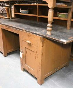 Vintage solid wood workbench / desk-2
