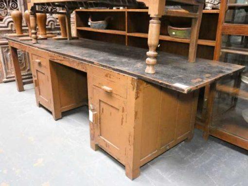 Vintage solid wood workbench / desk-2