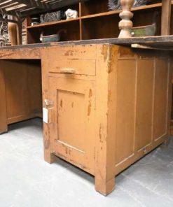 Vintage solid wood workbench / desk-3
