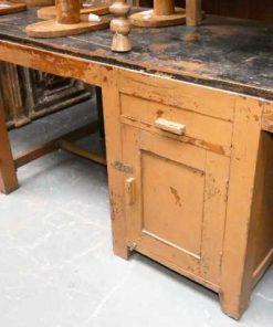 Vintage solid wood workbench / desk-4