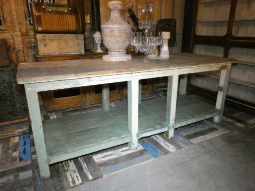Vintage werktafel / presentatie tafel-2