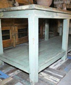 Vintage werktafel / presentatie tafel-3