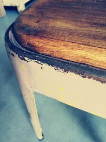 Vintage krukken / bijzettafeltje-3