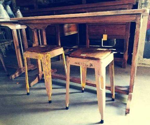 Vintage stools / sidetable-4