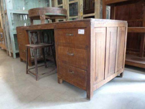 Vintage houten werktafel / bureau-1