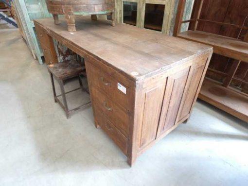 Vintage houten werktafel / bureau-2