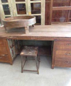 Vintage houten werktafel / bureau-3