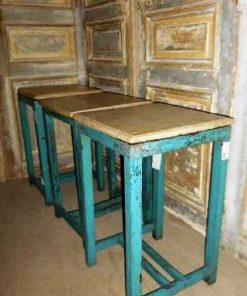 Vintage blue sidetable-1