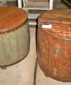 Industriële ronde salon / bijzet tafel-3