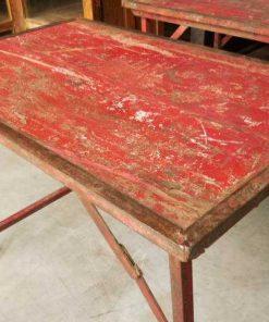 Opklapbare vintage rode tafel-1