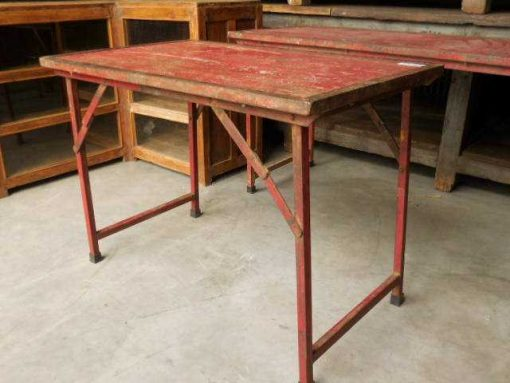 Opklapbare vintage rode tafel-2