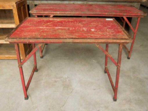 Opklapbare vintage rode tafel-3