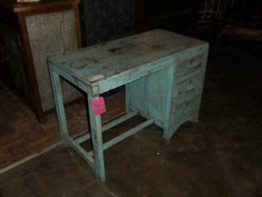 Antieke turquoise kinder bureau-2