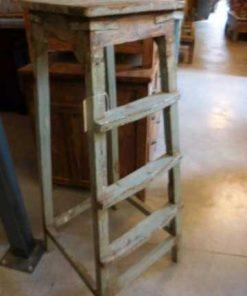 Vintage houten planten tafel / kruk-5