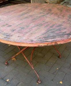Vintage runder Klapptisch-1
