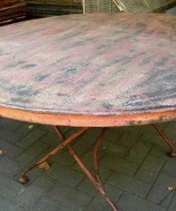 Vintage runder Klapptisch-2