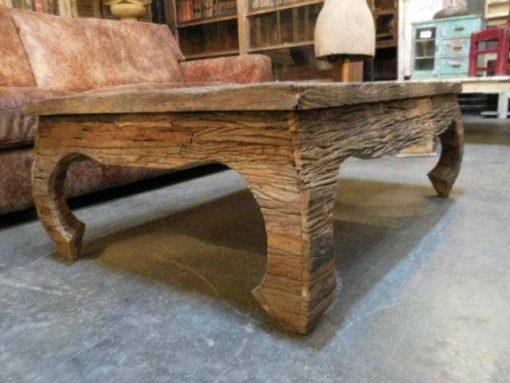 Opium salon table made of coarse wood-5
