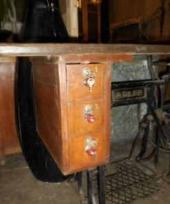 Table made of antique sewing machine base-2