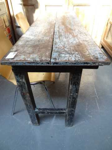 Various old folding wood tables-2
