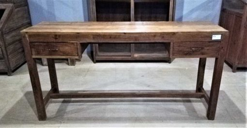 Antique teak sidetable with 2 drawers-3
