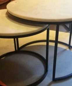 Set of 2 round coffee tables-3