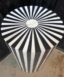Ronde Zwart / Wit Tafeltje / Zuiltje-3