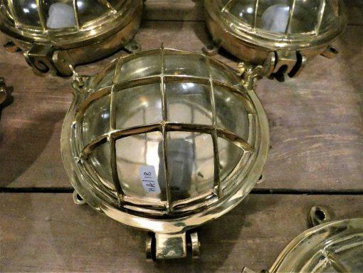 Authentieke oude bronzen scheepslamp / plafonniere / wandlamp-1