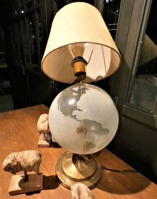 Antique lamp with glass globe-1