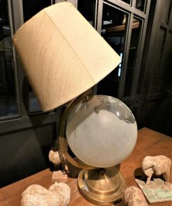 Antique lamp with glass globe-5