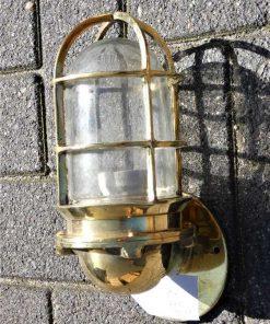 Vintage Schiffslampe Bronze -1